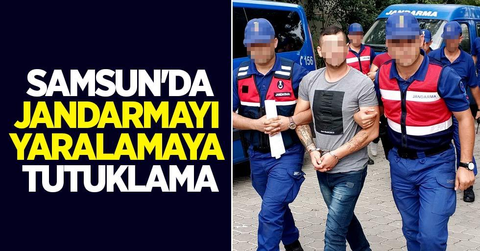 Samsun'da jandarmayı yaralamaya tutuklama