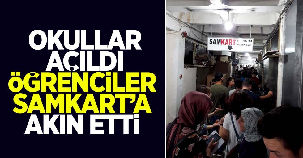 Samsun'da öğrenciler Samkart'a akın etti