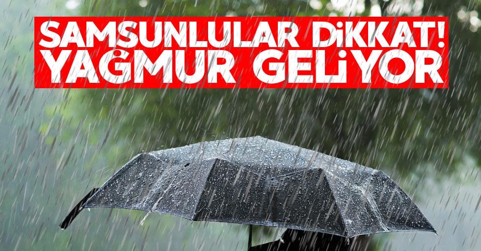 Samsun'da yağışlı hava uyarısı