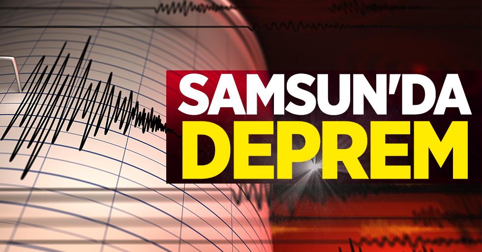 Samsun'da 2.3 şiddetinde deprem
