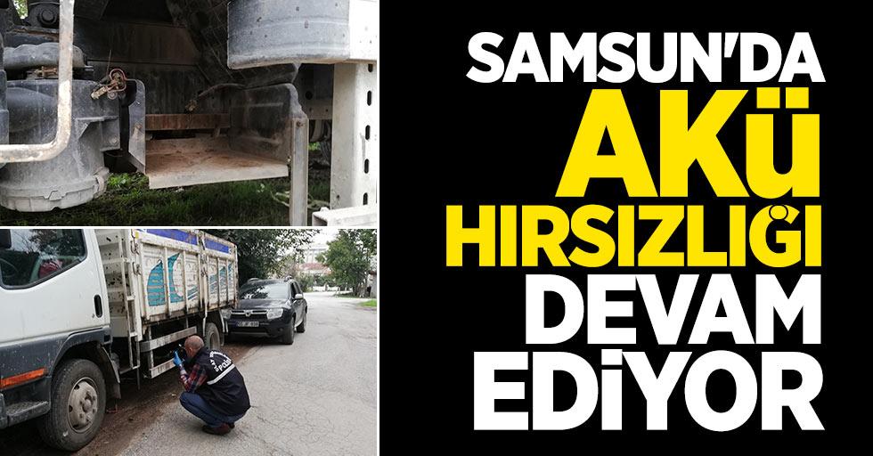 Samsun'da akü hırsızlığı devam ediyor
