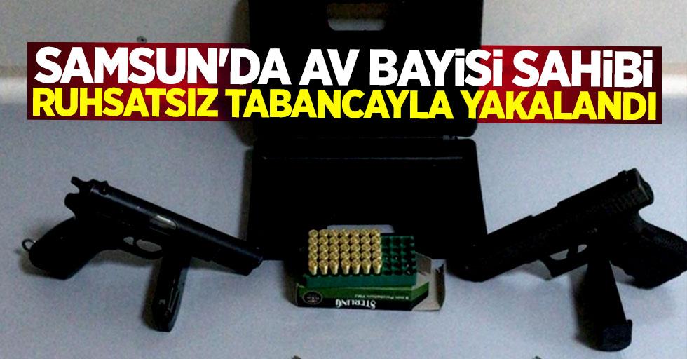 Samsun'da av bayisi sahibi ruhsatsız tabancayla yakalandı