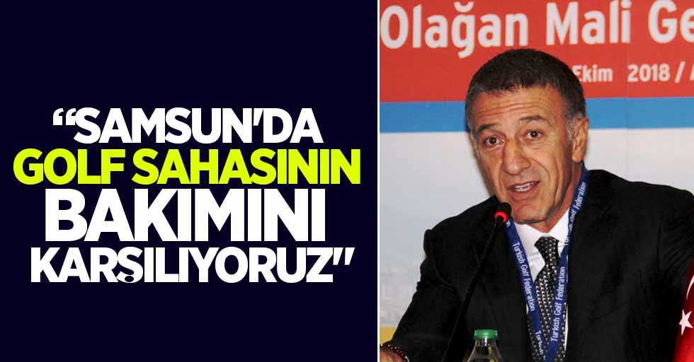 """""""Samsun'da golf sahasının bakımını karşılıyoruz"""""""