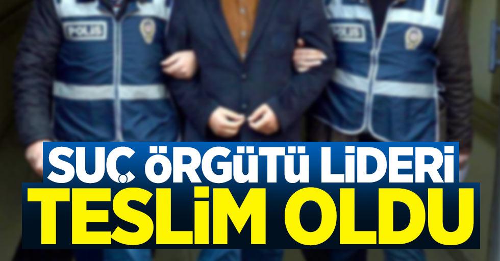 Samsun'da suç örgütü lideri teslim oldu