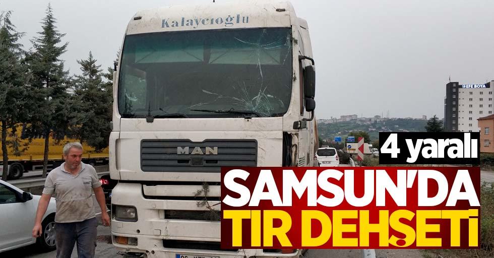 Samsun'da tır dehşeti! 4 yaralı