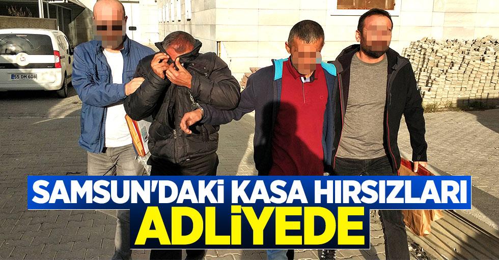 Samsun'daki kasa hırsızları adliyede