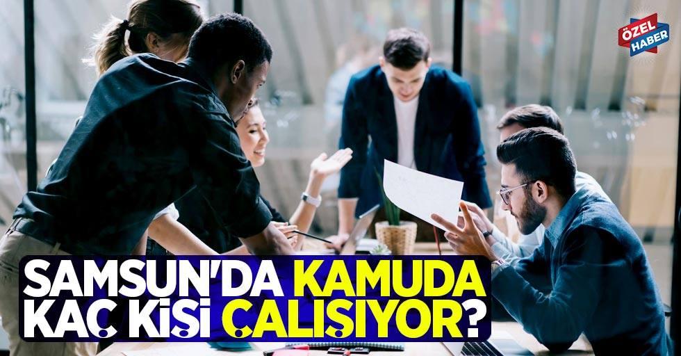 Samsun'da kamuda kaç kişi çalışıyor?