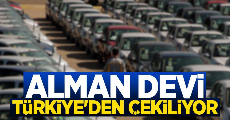 Alman devi Türkiye'den çekiliyor