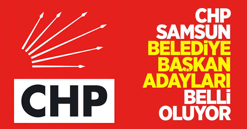 CHP Samsun belediye başkan adayları belli oluyor
