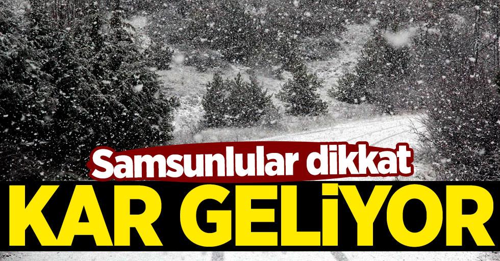 Samsun'da ne zaman kar yağacak?