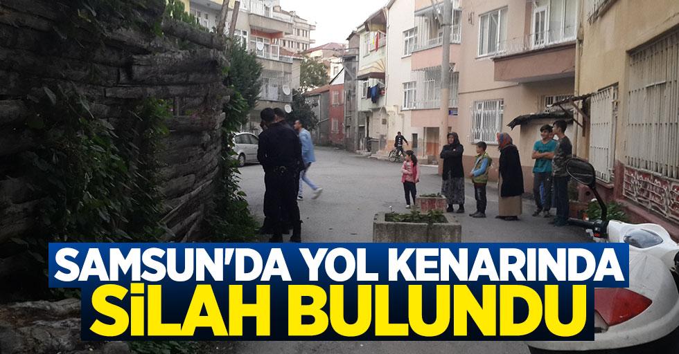 Samsun'da yol kenarında silah bulundu