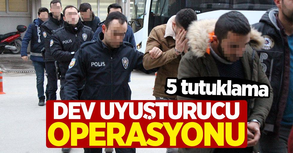 Dev uyuşturucu operasyonu: 5 tutuklama, 14 şüpheli adliyede