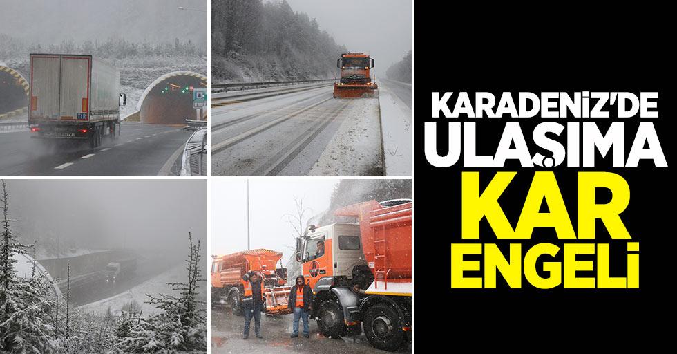 Karadeniz'de ulaşıma kar engeli