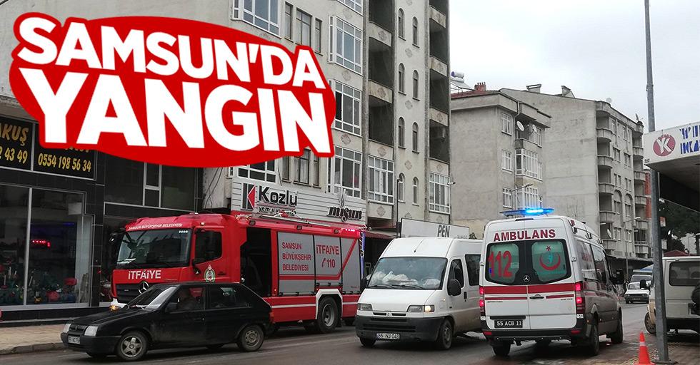 Samsun'da 4 yaşındaki çocuk yangın çıkardı