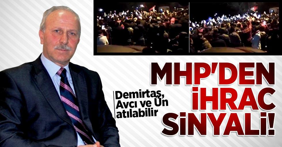 MHP'den ihraç sinyali