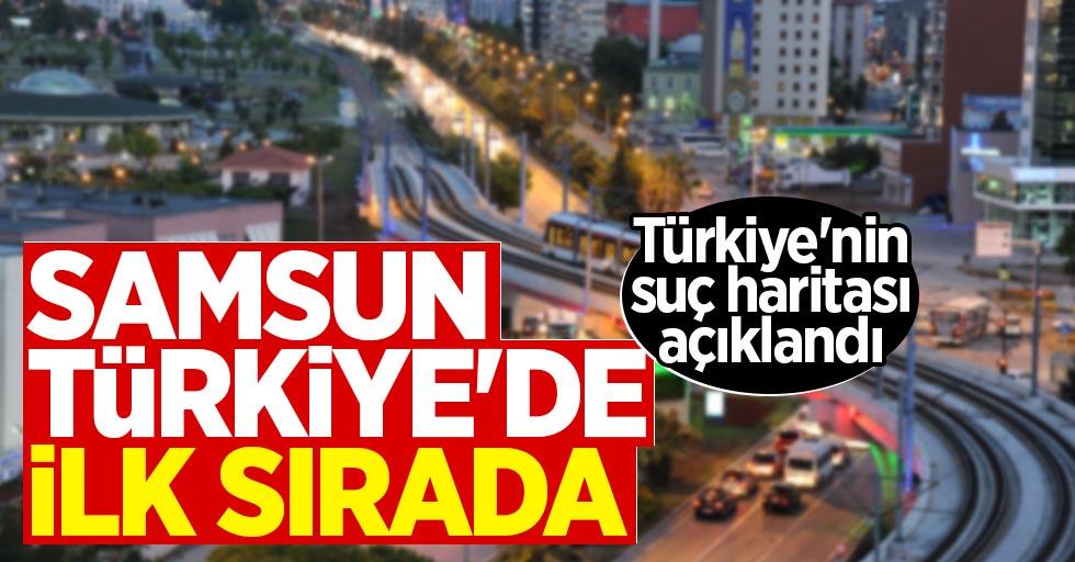 Türkiye'de en çok suç işlenen il Samsun!