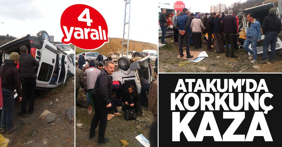 Atakum'da korkunç kaza: 4 yaralı
