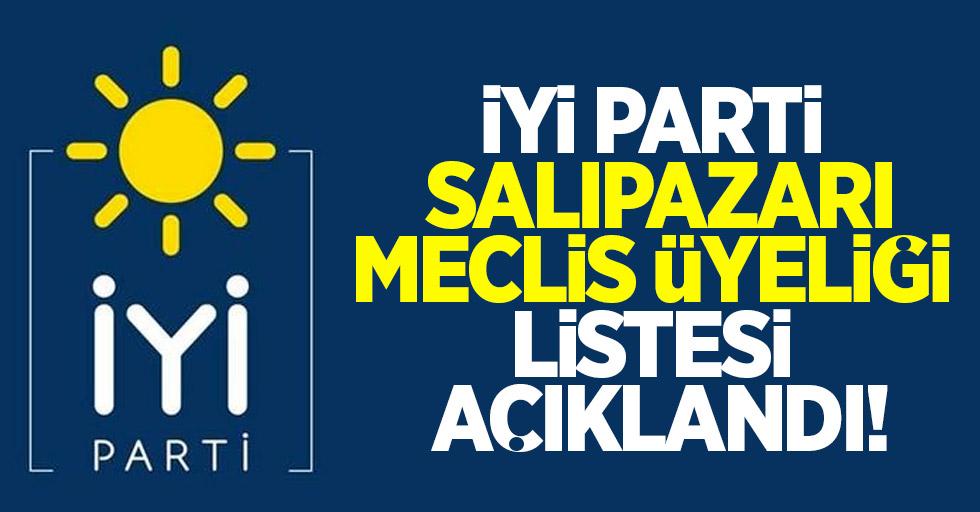 İYİ Parti Salıpazarı meclis üyeliği listesi açıklandı