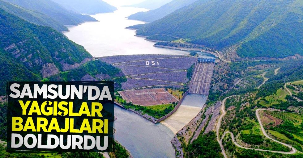 Samsun'da yağışlar barajları doldurdu