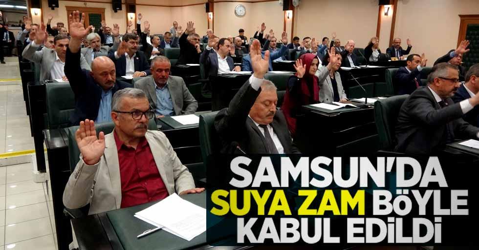Samsun'da suya yapılan zam meclisten geçti
