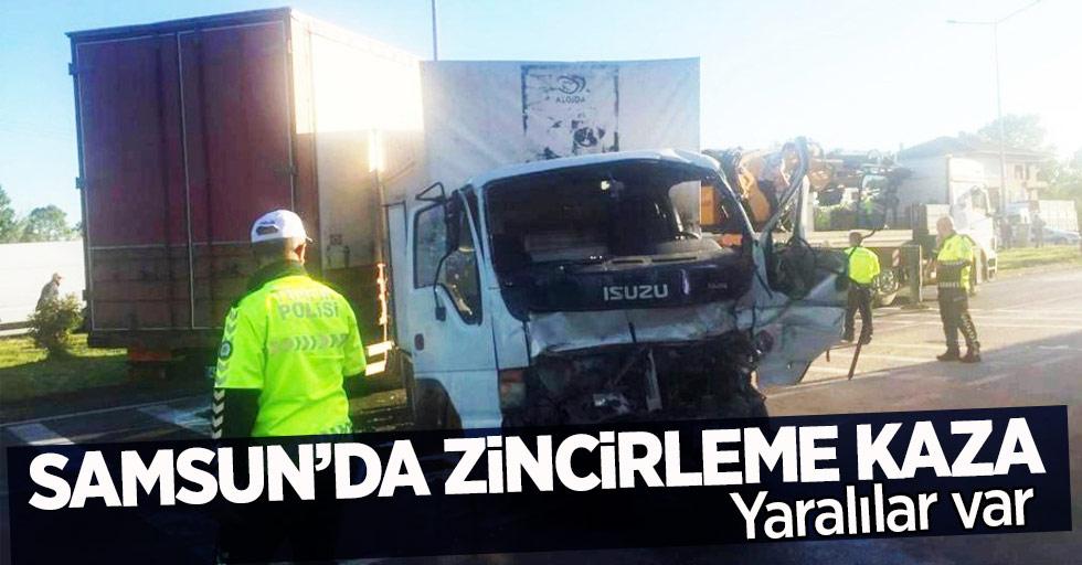 Samsun'da Zincirleme Kaza ! yaralılar var...