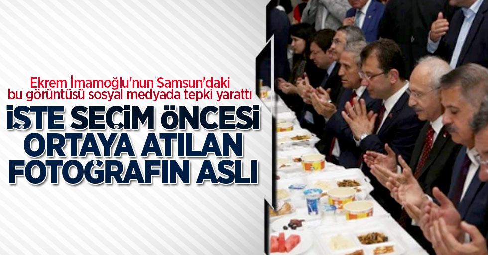 Ekrem İmamoğlu'nun Samsun'da dua olayının aslı