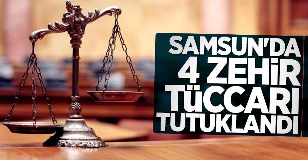 Samsun'da 4 zehir tüccarı tutuklandı