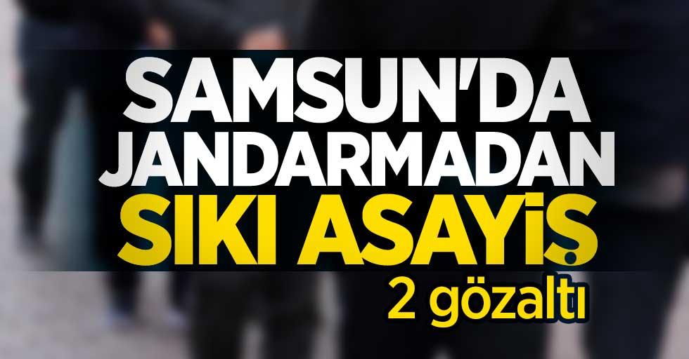 Samsun'da jandarmadan sıkı asayiş
