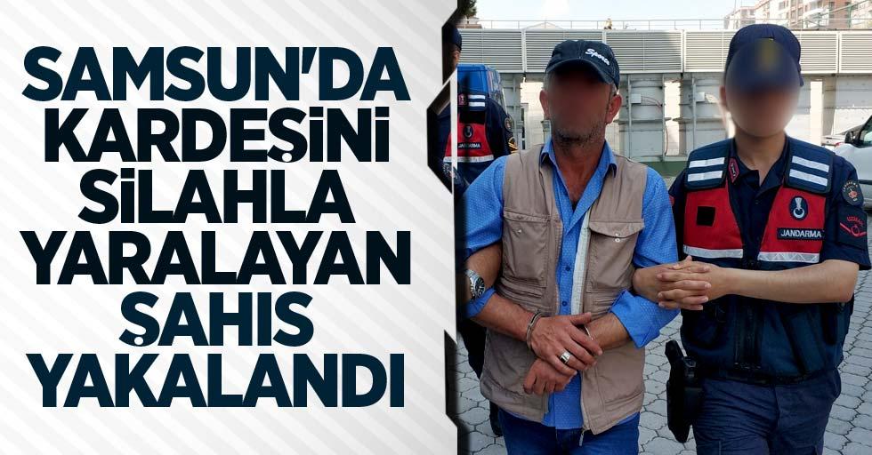 Samsun'da kardeşini silahla yaralayan şahıs yakalandı