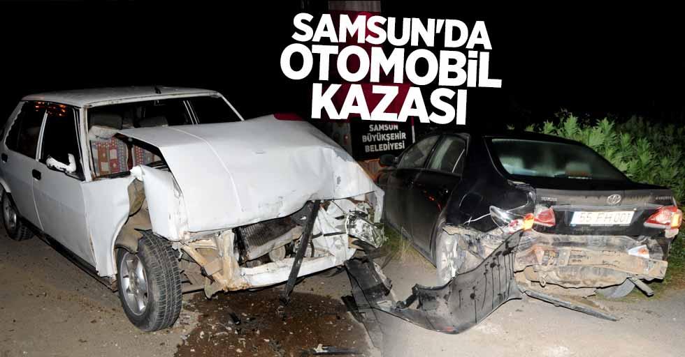 Samsun'da otomobil kazası