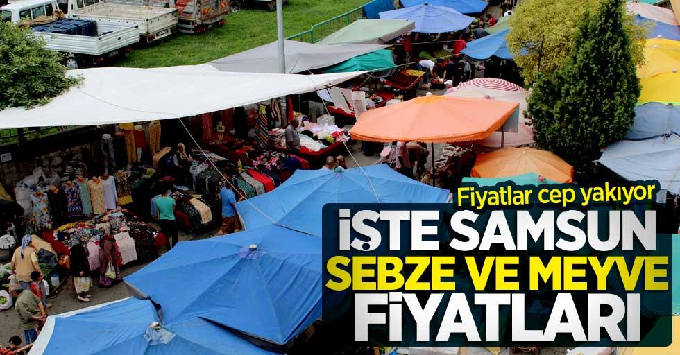 Samsun pazar fiyatları, Samsun'da sebze ve meyve kaç TL?