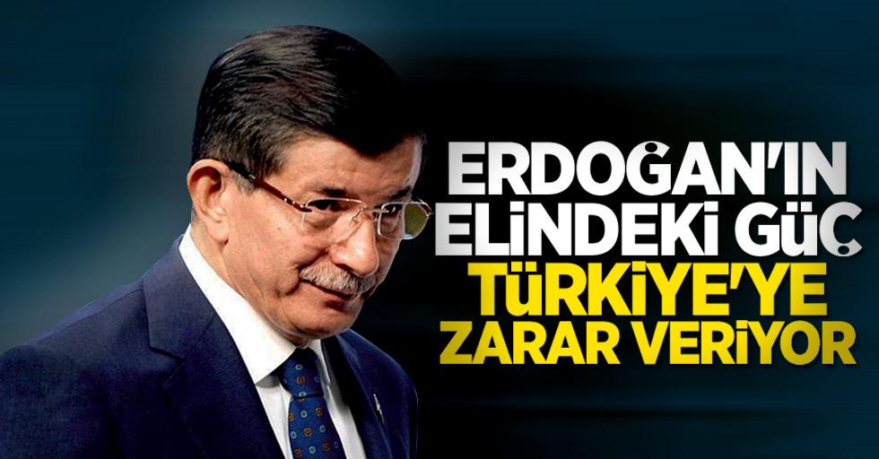 Ahmet Davutoğlu: Erdoğan Türkiye'nin temel yapılarına zarar veriyor
