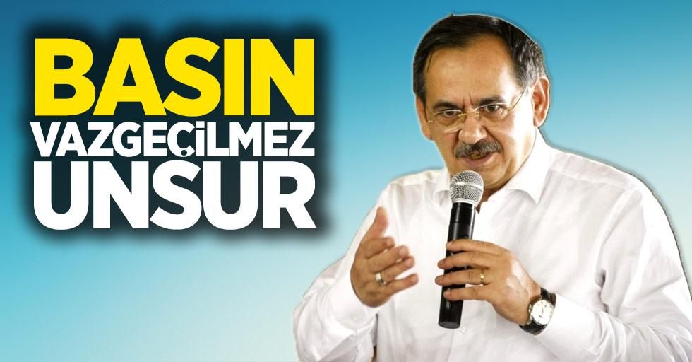 Başkan Mustafa Demir'den 24 Temmuz mesajı Basın vazgeçilmez unsur