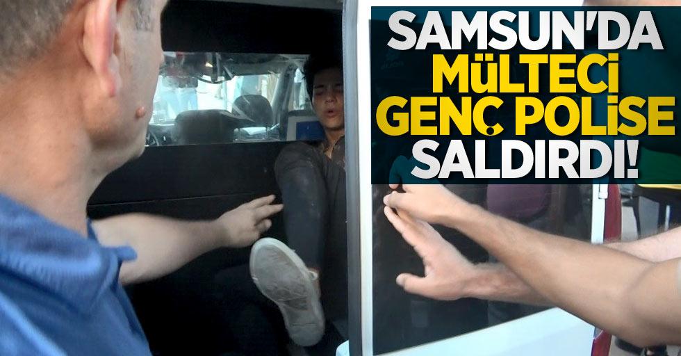 Samsun'da mülteci genç polise saldırdı!