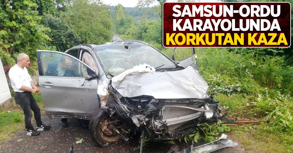 Samsun-Ordu karayolunda korkutan kaza