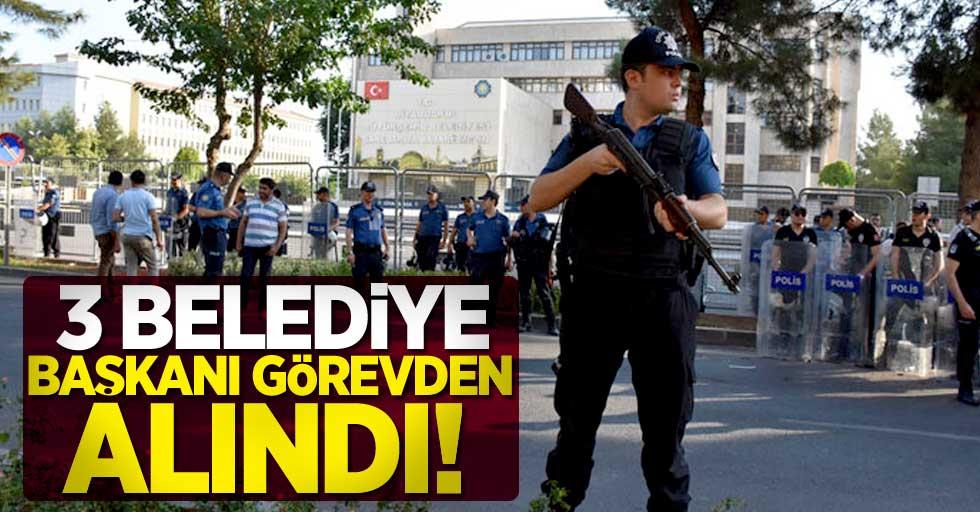 Mardin, Van ve Diyarbakır belediye başkanları görevden uzaklaştırıldı