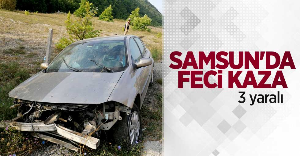 Samsun'da feci kaza! 3 yaralı