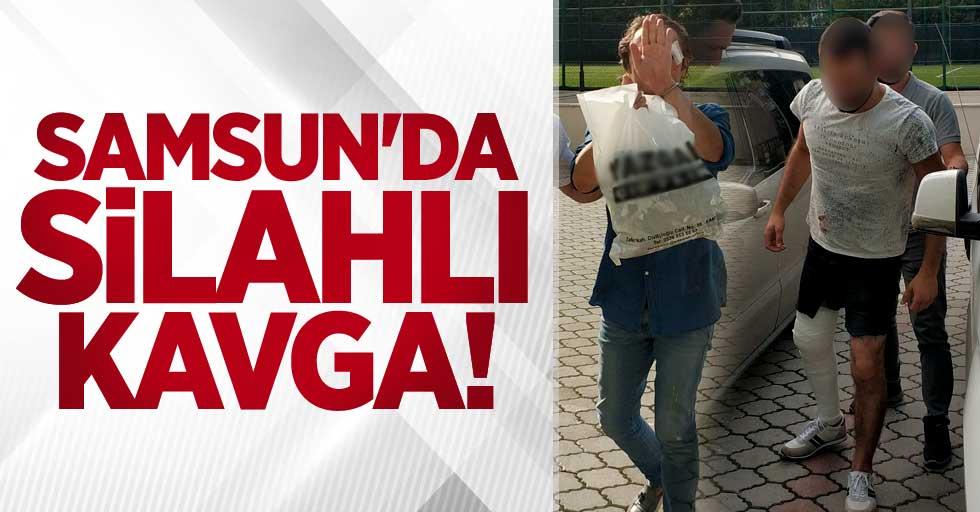 Samsun'da silahlı kavga! 2 kişi adliyede