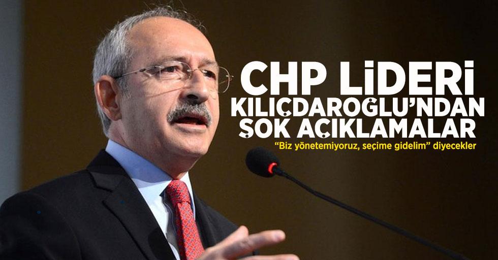 CHP Lideri Kemal Kılıçdaroğlu, şok açıklamalarda bulundu.