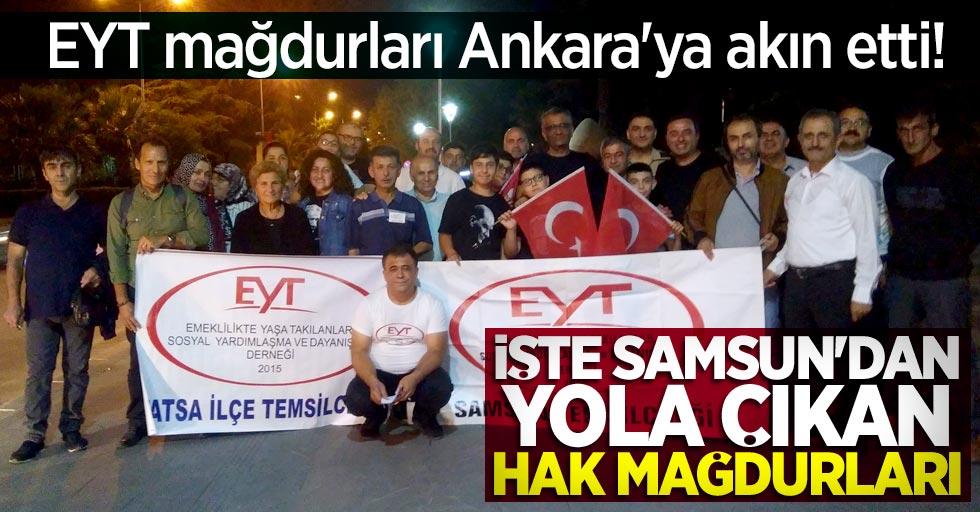 EYT mağdurları Ankara'ya akın etti! İşte Samsun'dan yola çıkan hak mağdurları