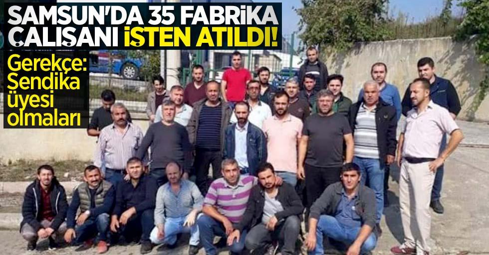 Samsun'da 35 fabrika çalışanı işten atıldı! Gerekçe: Sendika üyesi olmaları