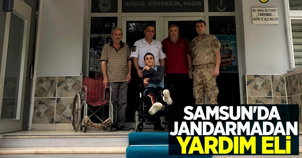 Samsun'da jandarmadan yardım eli