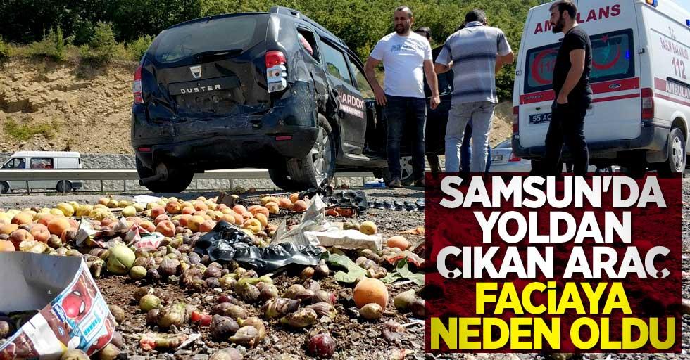 Samsun'da otomobil kazası! 4 yaralı