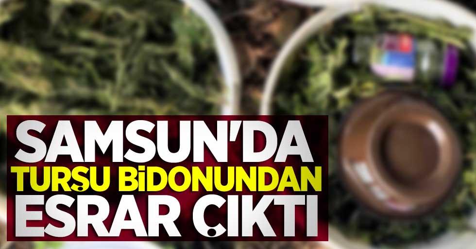 Samsun'da turşu bidonundan esrar çıktı! 1 kişi tutuklandı