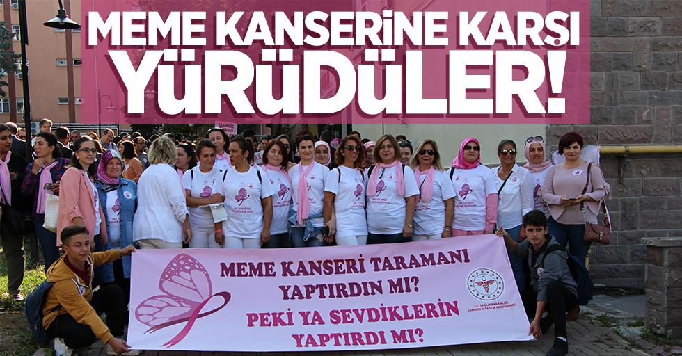 Meme kanserine karşı yürüdüler!