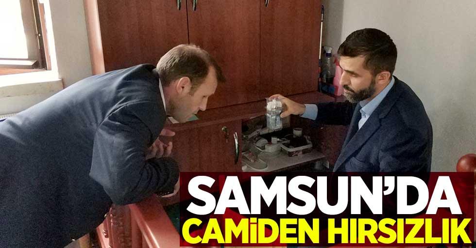 Samsun'da camiden hırsızlık