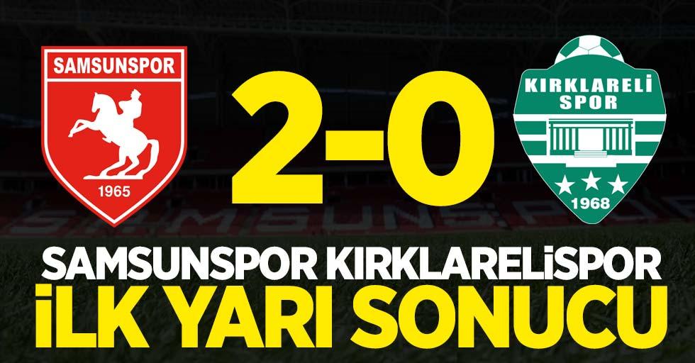 Yılport Samsunspor-Kırklarelispor 2-0 (İlk yarı)