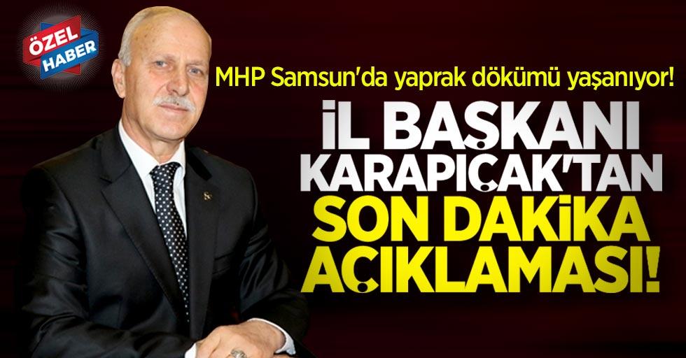 MHP Samsun'da yaprak dökümü yaşanıyor! İl Başkanı Karapıçak'tan açıklama
