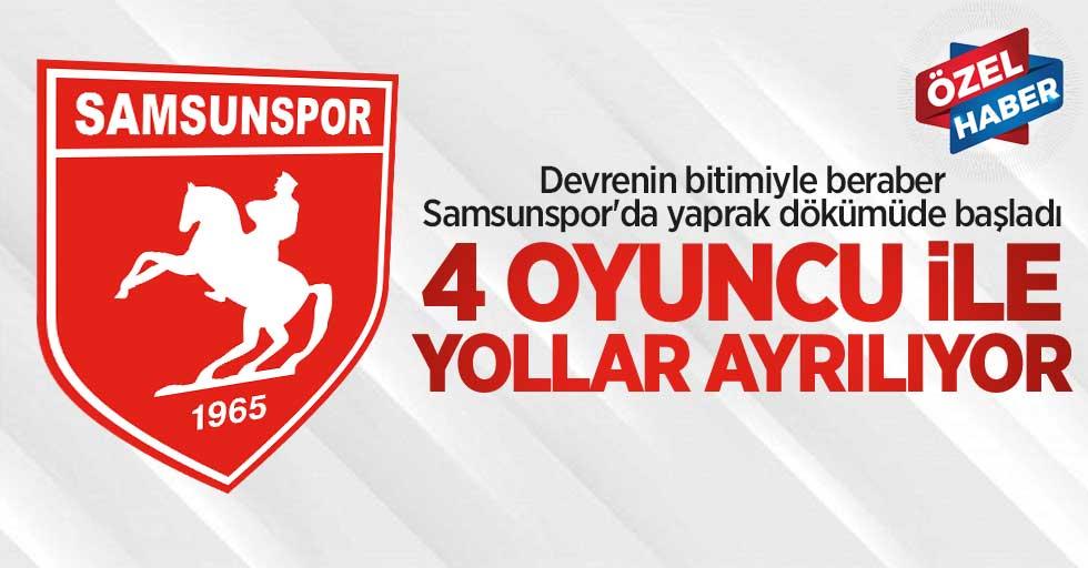 Devre kapandı Samsunspor'da yaprak dökümü başladı! 4 oyuncu ile yollar ayrılıyor