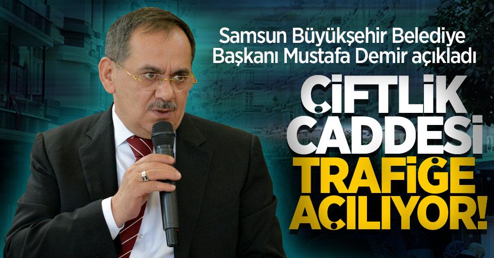 Mustafa Demir açıkladı: Anket süreci tamamlandı Çiftlik Caddesi trafiğe açılıyor
